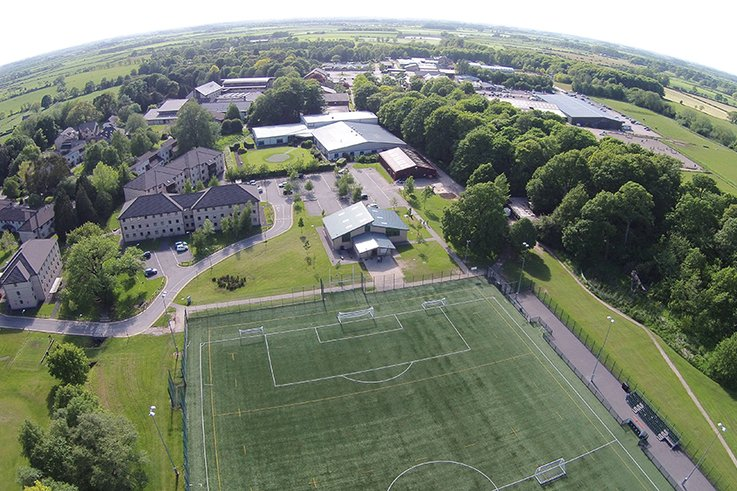 Myerscough aerial view