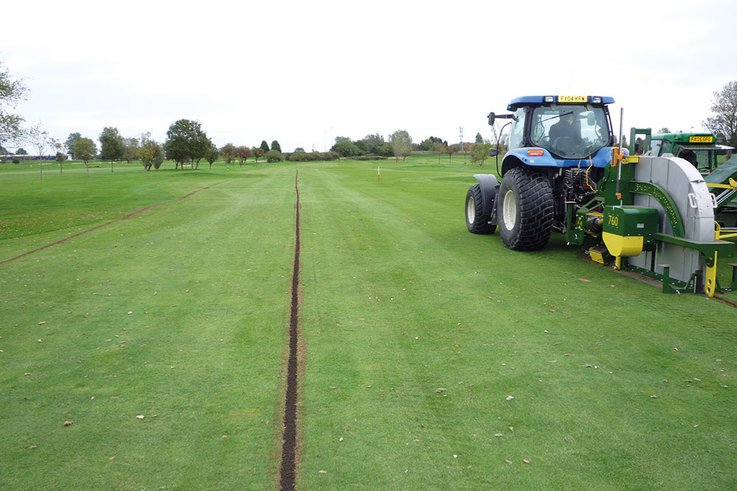 Sheltons Supertrencher fairway drainage 760
