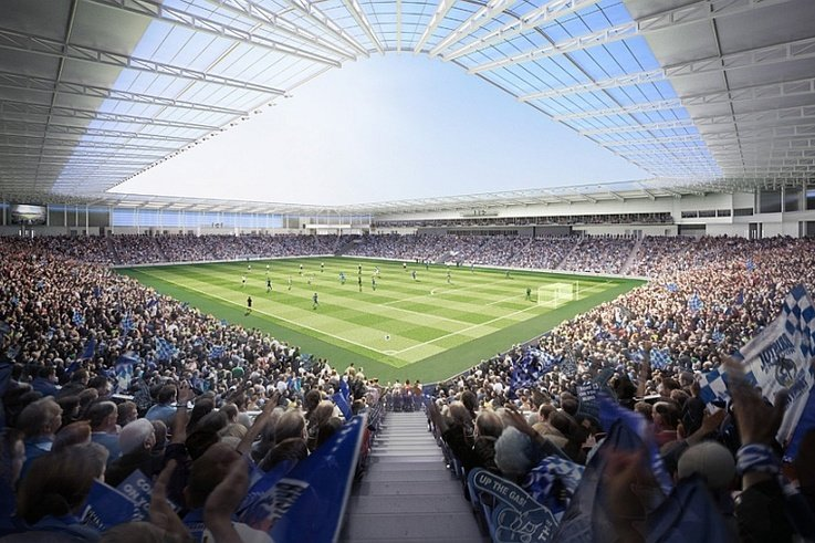 Bristol Rovers UWE Stadium Fans View