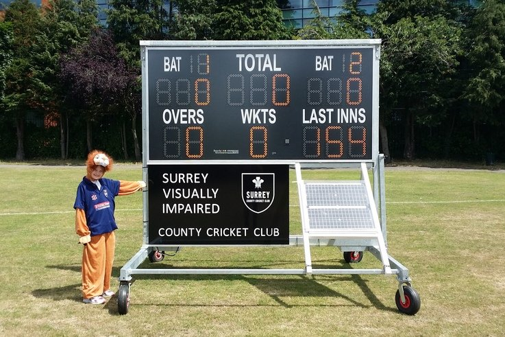 Vic the Surrey VI Lion with scoreboard