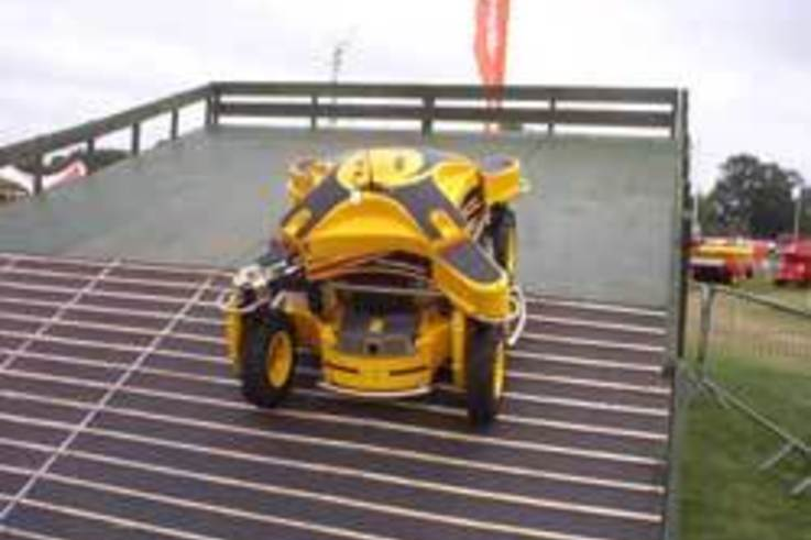 Ransomes spider puts grass into a spin