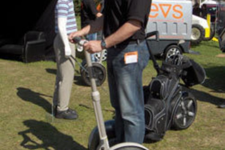 Feet aching after Saltex? Hop on a Segway!