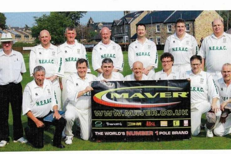 Michael, front left, was also a scorer in the Durham leagues, including here for the Durham Cricket Board 50+ tea.jpg