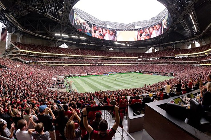 Mercedes-Benz Stadium Inside View