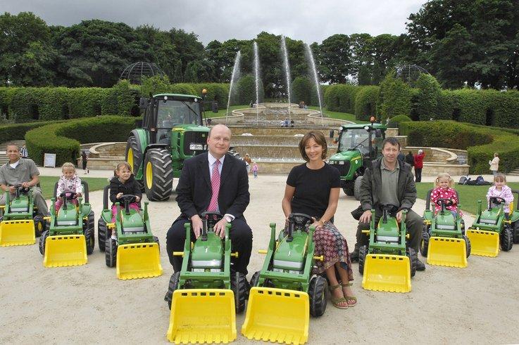 John Deere tractors at The Alnwick Garden.jpg