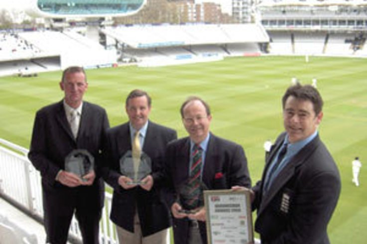 Cricket groundsman trio honoured at Lord's