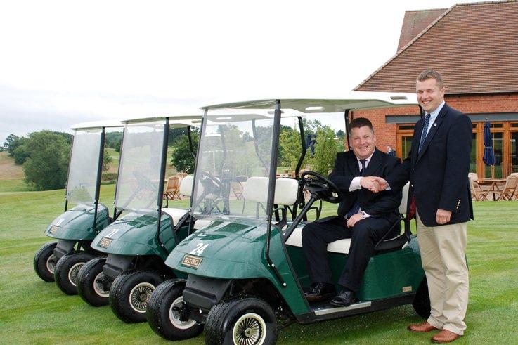 Over 200  E-Z-GO golf buggies for The Club Company