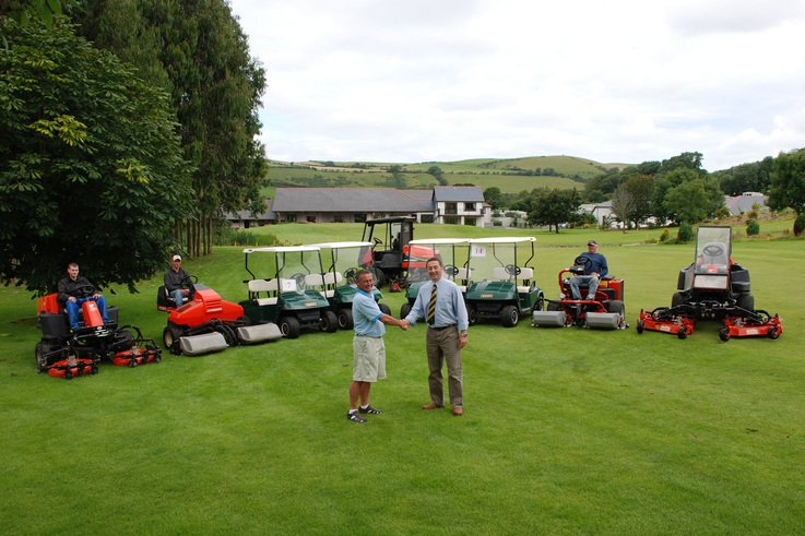 Jacobsen Orange is the colour at Penrhos Golf and Country Club