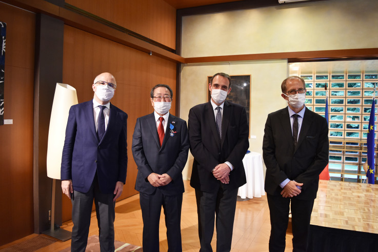 Picture_Mr Kimata awarded by France.jpg