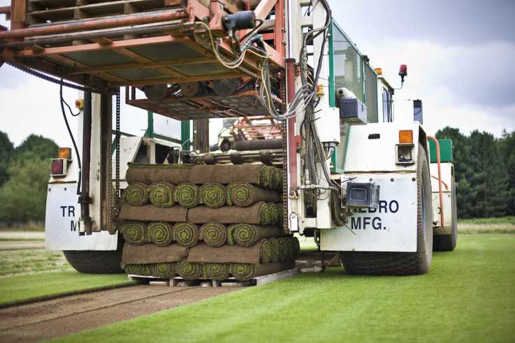 Precision harvesting of County Greens turf
