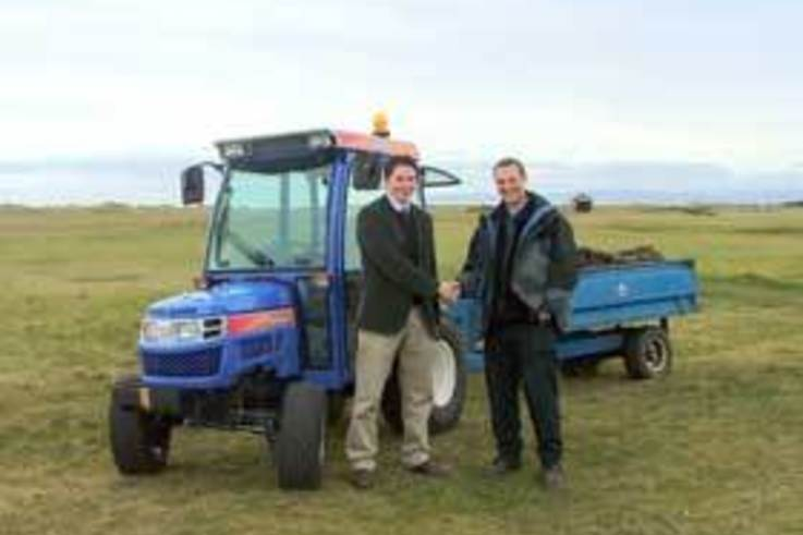 New Compact tractor and top dresser for Royal Troon golf club