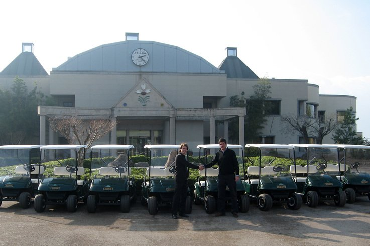 Ransomes Jacobsen Spanish Distributors's are a golf car sales success.