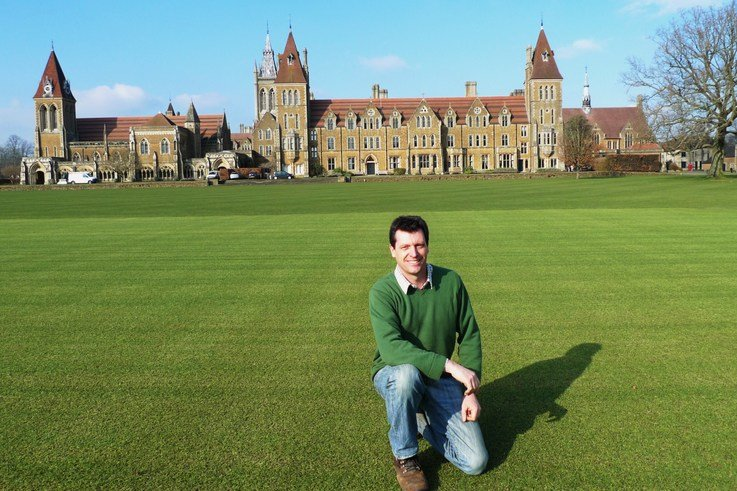 Dave Roberts on the Charterhouse cricket square