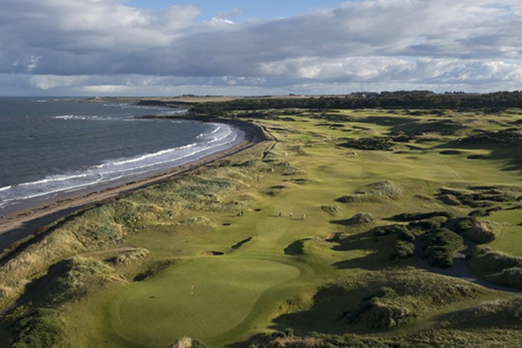 Kingsbarns Aerial 17th Green & Course