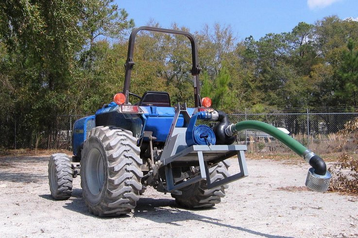 Pack away water problems with a trunkpump