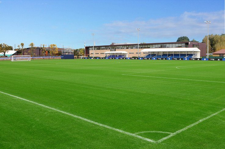 MJ Abbott complete SIS pitches at Chelsea FC training grounds