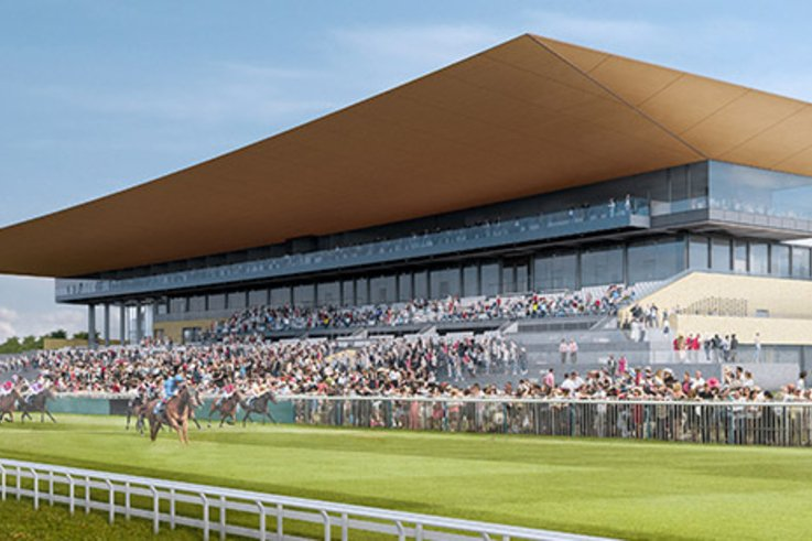 Curragh Racecourse Artists Impression