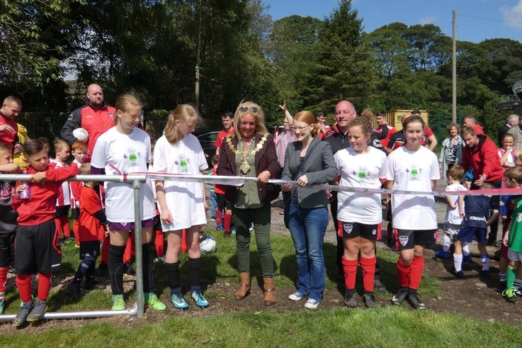Opening of new pitches.JPG
