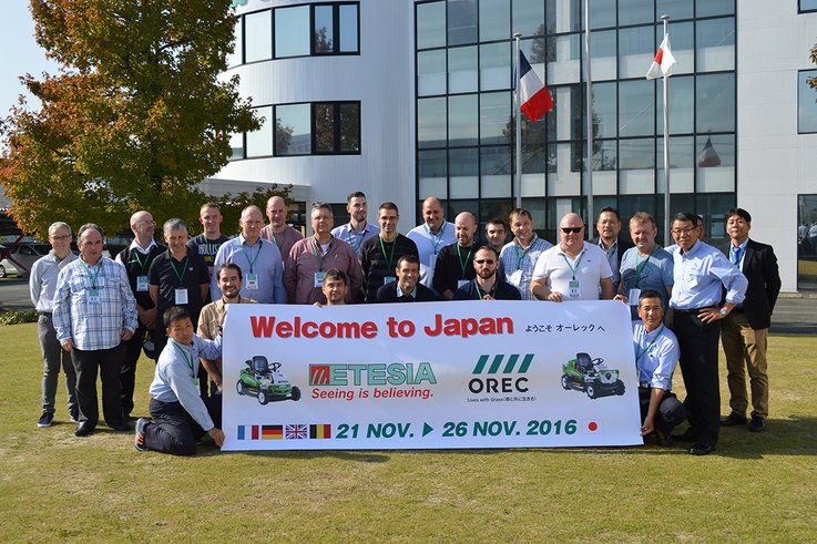 Etesia dealers rewared with trip to Japan