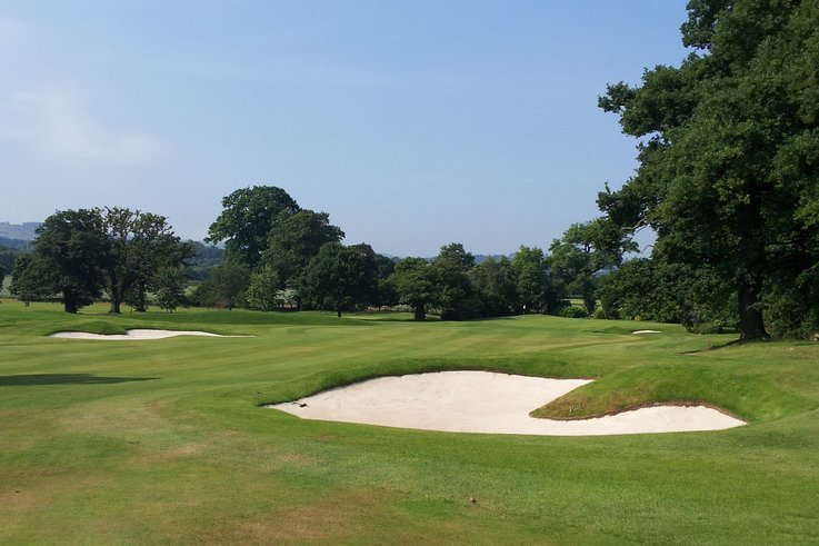 CH New fairway bunkers and greens complex on 1st Hole