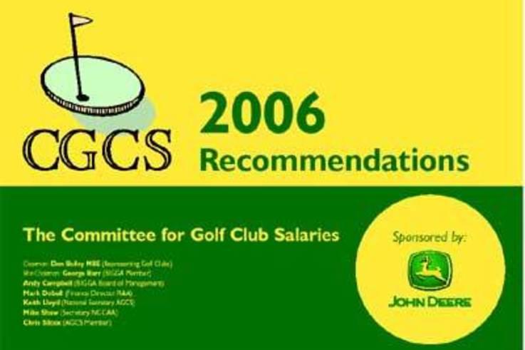 Greenkeeper Salary scales 2006