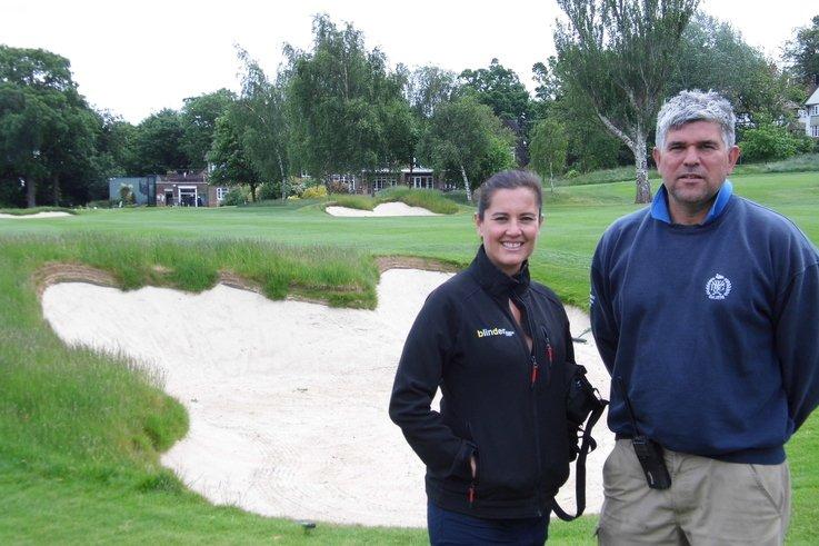 Penny Long with Dave Langheim wimbledon