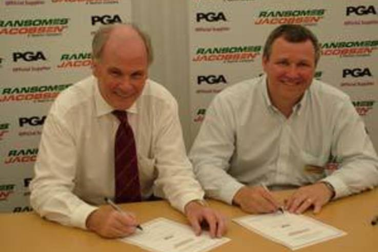 PGA and Ransomes Jacobsen sign three year deal