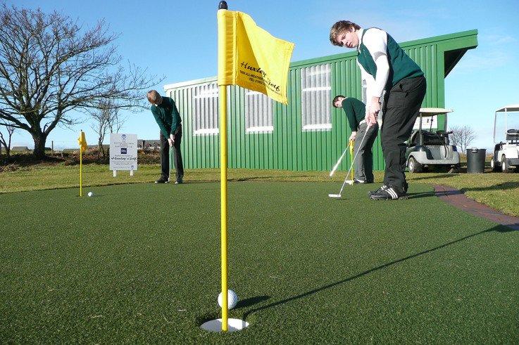 Huxley Golf putting green at Nairn Dunbar jpg