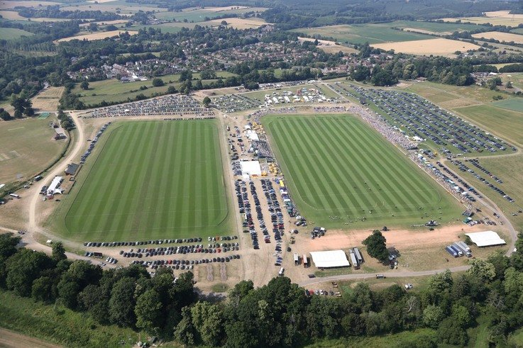 Cowdray Park Polo Club aerial 1, pic by Clive Bennett