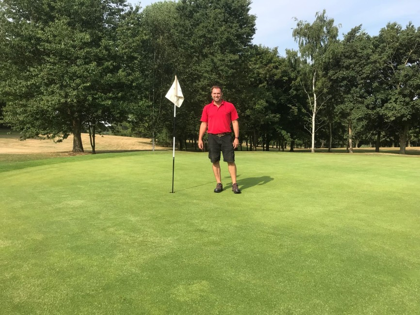 Frazer Harrison, Course Manager at Willesley Park Golf Club.