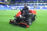 Darren Baldwin with the new Jacobsen TR3 at White Hart Lane stadium