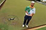 Aaron Tomkins has had a busy week on the greens. Picture: BILL CONROY