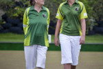 Engelina Williams, 81, and Sophie Fisher, 15 are the youngest and oldest members of Himatangi Beach Bowling Club.