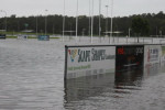 The main oval at Maroochydore Sports Complex was one of those badly affected by flood waters.