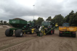 Hendriksens at work with the Shelton Supertrencher 760
