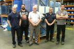 The team at De Laval (from left) Adam Garland, Ben Jergens, Dave Murphy, Scott Garland and Richard Gorgievski.