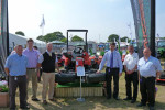 Representative from Ransomes Jacobsen and Bartram Mowers with the award-winning  Jacobsen Eclipse 322 at the Suffolk Show