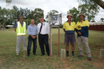 ASTC manager works Scott Allen, Alice Water Smart project manager Les Seddon, Mayor Damien Ryan, council's Phil Castell and Craig Le Rossignol