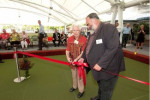 Opening of the Mooloolaba Bowls Club new undercover greens. 105 year old Agnes Vickers was an original member of the club and opened the new area with mayor Bob Abbot. Photo:Warren Lynam / Sunshine Coast Daily