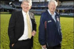 Sea Eagles director Kerry Sibraa (right) and Warringah administrator Dick Persson. Picture: VIRGINIA YOUNG