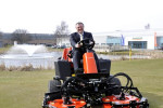 David Withers pictured on the GEO-certified RJ National golf course at  Ransomes Jacobsen's headquarters in Ipswich