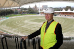Ian McLachlan at the top of the new western grandstand. Picture: Calum Robertson