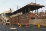40The Hobart City Council has brought in specialists to examine whether a heritage grandstand gutted by fire at the North Hobart oval can be saved.