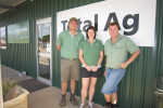 The team at Total Ag Narambeen (from left to right) owner Sam Bald, Tenille Cole (Administration) and Aaron Lyon (Merchandise).