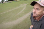 Rotorua Bowling Club greenkeeper Tony Gray is tired of people vandalising the club's greens. Photo / Ben Fraser