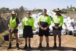 Council staff (from left) Ben Griffiths, Allan Brown (Tip Attendant), Mark Brown (Landfill Supervisor) and Mark Airoldi during their recent drumMUSTER inspector training