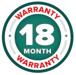 18 Month Warranty Badge for SR2000 Rotary Seed and Fertiliser Spreaders