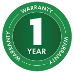 1 Year Warranty Badge for BA-4M 3/4 Inch Closed Core Tine Aerator (Easy Access)