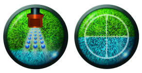 Precision Spray Pattern Indicator Blue - Targeted Application Image