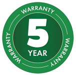 5 Year Warranty Badge for Earthway 2150 Seed and Fertliser Spreader